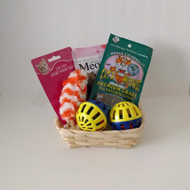 Cat Gift Basket Treats Toys Holiday Welcome Set - £11.97 GBP