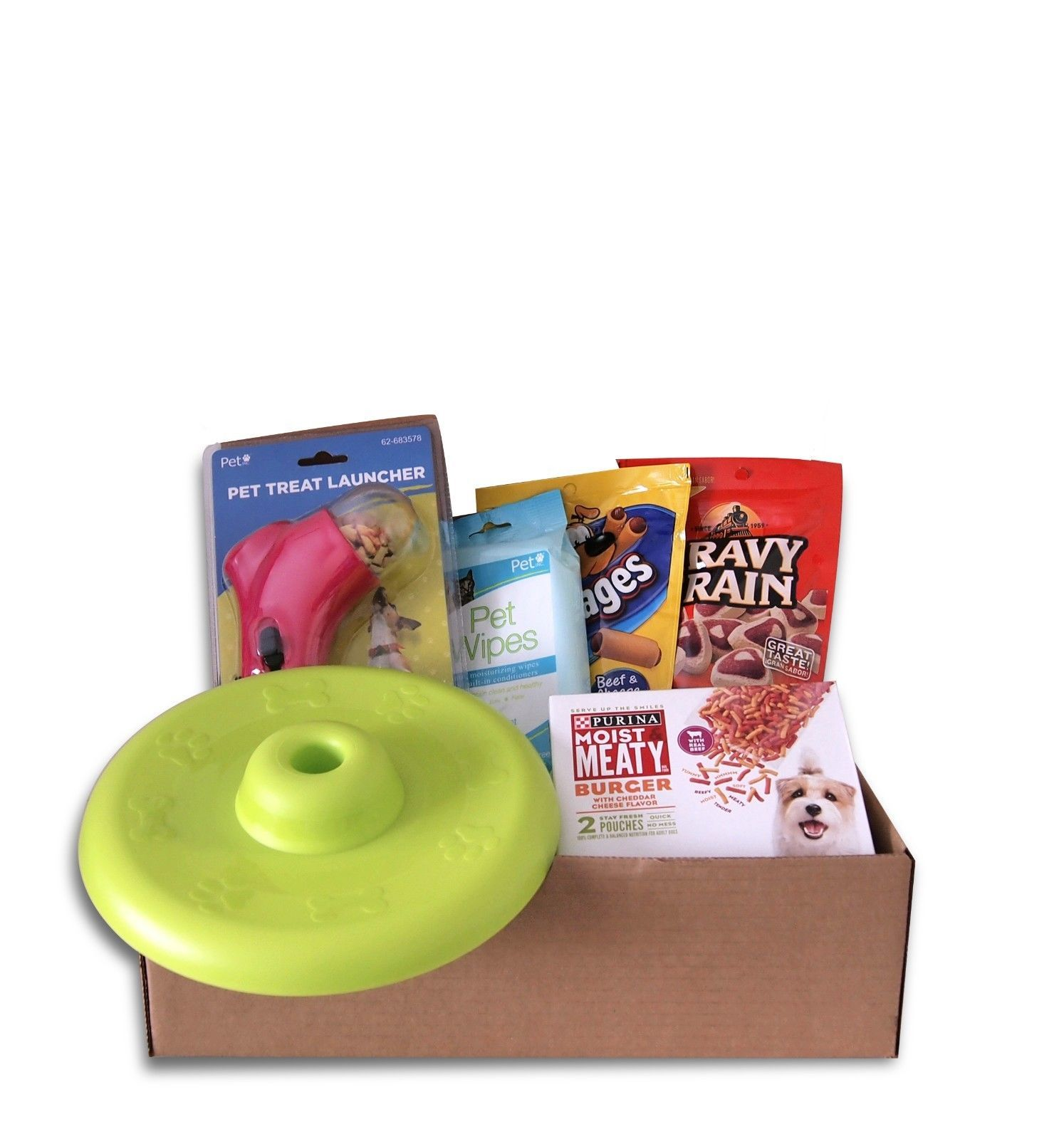Deluxe Dog Gift Basket Treats Crewing Toy Set - $45.55