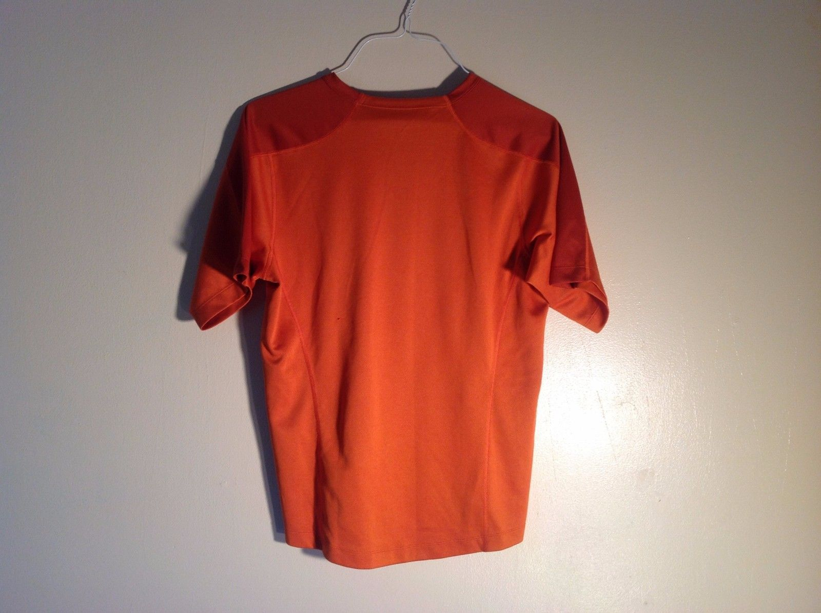 Small Orange sportswear Tee Short sleeve