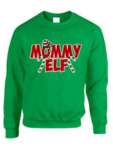 Adult Crewneck Mommy Elf Ugly Christmas Holiday Gift Top - $17.94+