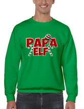 Men's Crewneck Papa Elf Ugly Christmas Holiday Gift Top - $17.94+