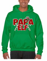 Men's Hoodie Papa Elf Ugly Christmas Holiday Gift Top Idea - $24.94+