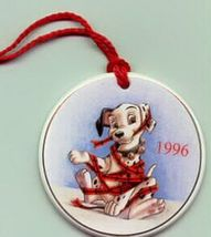 Disney 101 Dalmatians Porcelain ornament Mint In Original box never disp... - $13.54