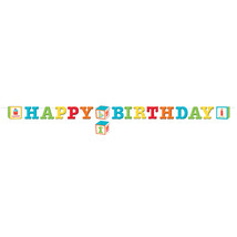 "ABC Birthday 6"" x 8' Letter Banner with 1st Birthday Sticker, Twine, Cas... - $53.60 CAD"