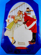 """SNICKERS 6"""" X 9""""  NORMAN ROCKWELL LIMITED EDITION CHRISTMAS CANISTER TIN... - $8.41"""
