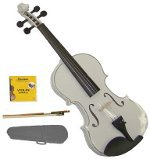 Lucky Gifts 1/2 Size Beginner, Student Violin,Case,Bow,2 Sets Strings ~ White