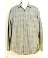 Levi shirt vintage men 100% cotton heavy denim metal buttons plaid soft ... - $49.49