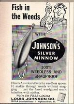 1960 Print Ad Johnson Silver Minnow Fishing Spoon Lures Highland Park,IL - $9.53