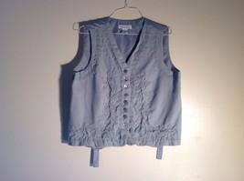 Stephanie Andrews Soft blue-gray vest - $64.35