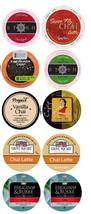 10 Single Serve Cup Chai Tea & Chai Latte Zesty Sampler! Free Shipping! - $16.95