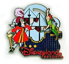 Disney Captain Hook Peter Pan Electrical Light Parade pirate ship  pin/pins - $75.98