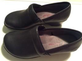 JBU Jambu Designs Cordoba Black Leather Slip-on Clog Shoes 7 MED US - $35.00