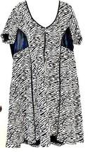 Jessica Simpson Designer Black & White Dress Leather Detail Zipper Front... - $14.84