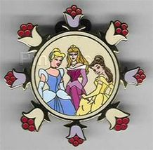 Disney Cinderella Aurora Belle Auction  P.I.N.S. -  3 Princesses Pin/Pins - $39.99