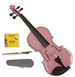 Lucky Gifts 1/4 Size Beginner, Student Violin,Case,Bow,2 Sets Strings ~ Pink