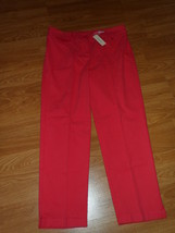 JONES NEW YORK SPORT PANTS SIZE 12 STRETCH RED MSRP:$69.00 NWT - $24.99