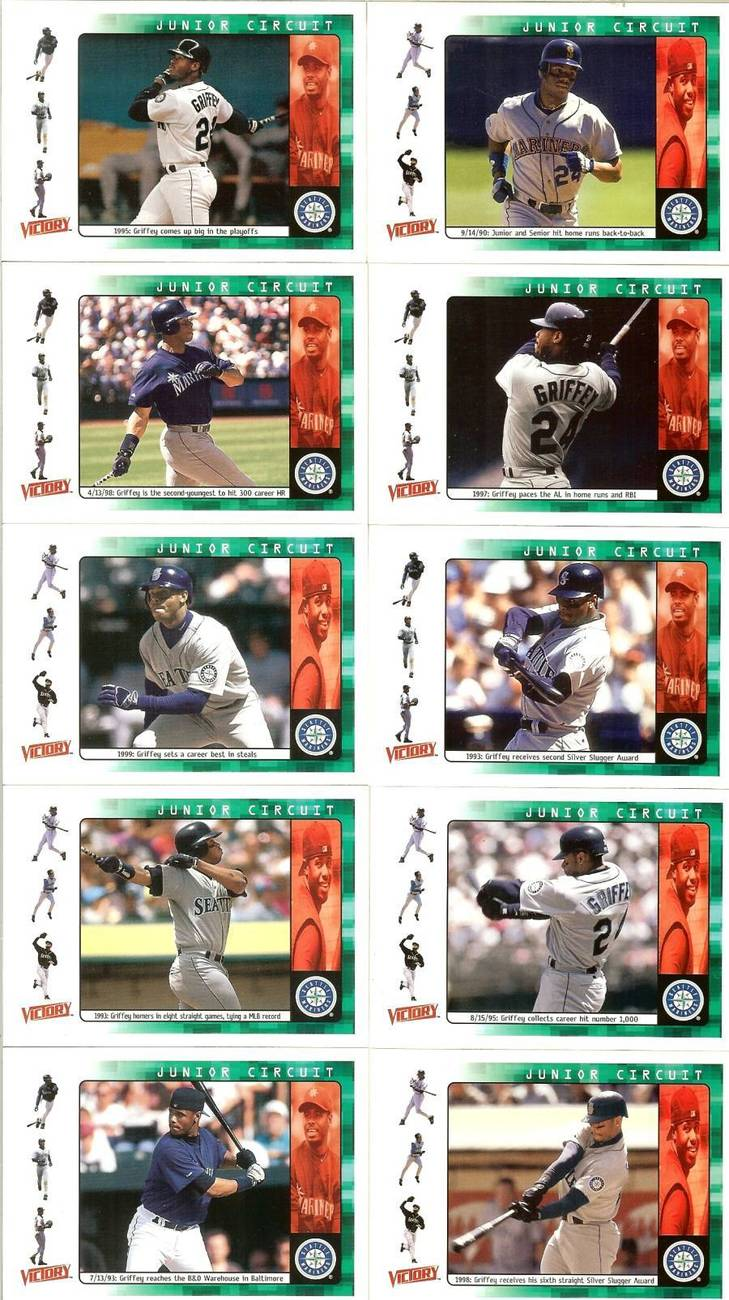 Primary image for 2000 ken griffey jr seattle mariners ud victory 10 baseball cards