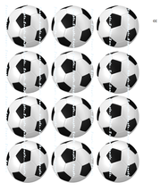SOCCER BALLS BLACK AND WHITE: 12 edible image c... - $8.78 - $8.78
