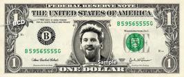 LIONEL MESSI on a REAL Dollar Bill Money Cash Collectible Memorabilia Ce... - $8.88