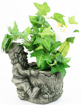 Sitiing Gnome Statue with Pot - $59.00