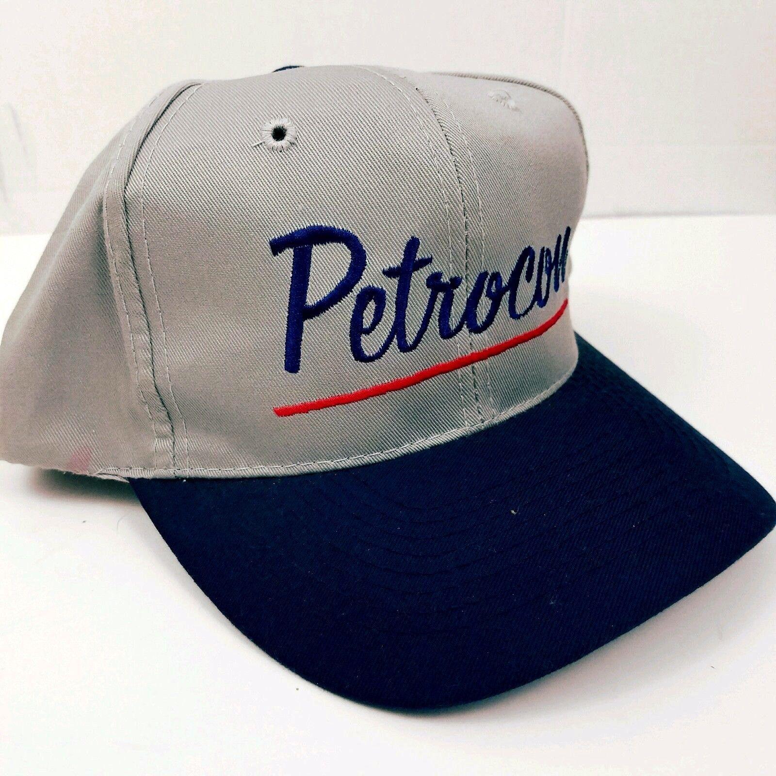 eba3a0dcd59 Petrocon Trucker Hat Snapback Cap Construction Oil USA Made Two Tone
