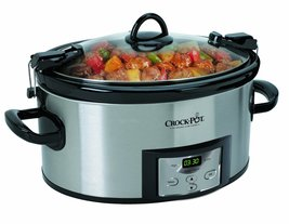 6 Quart Programmable Cook and Carry Slow Cooker On The Go 3 Settings Cam... - $956,15 MXN