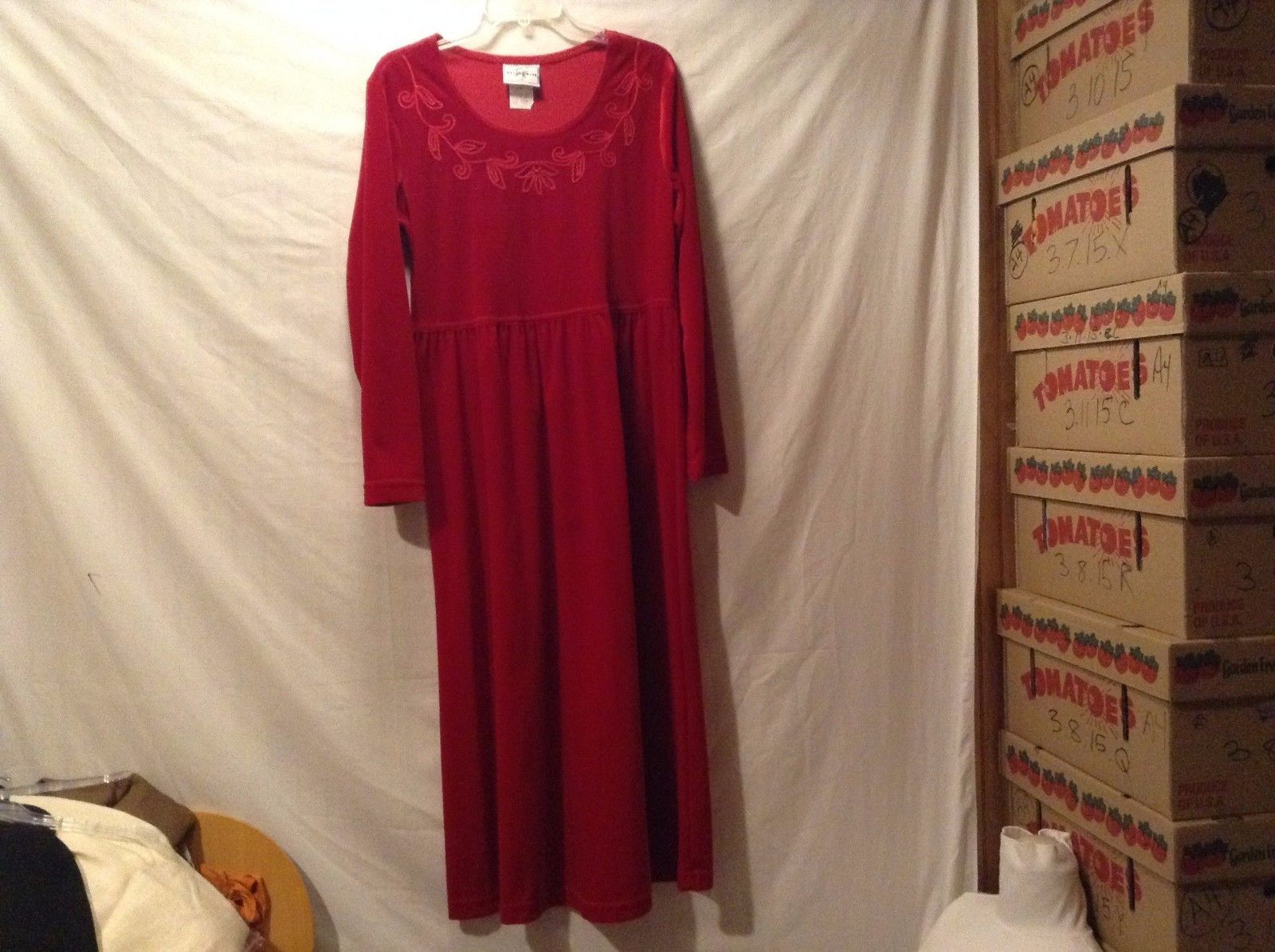 Great Condition Studio Ease Red Dress Small Decorative Trim 100% Polyester