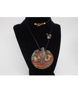 MOUSE Chasing CAT Artist Pendant over 2 inches ... - $60.00