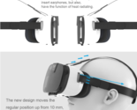 """3D VR Virtual Reality Glass for 4.0""""-6.5"""" Smart Phones with iOS, for 3D Movie"""