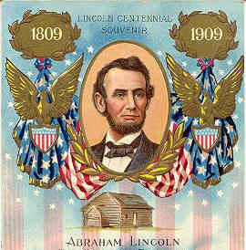 Lincoln Centennial Souvenir Post Card Vintage 1909