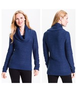 Classiques Entier XS PXS Solid Blue Purple Cowl Neck Sweater Long Sleeve... - $40.84