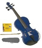 Lucky Gifts 1/16 Size Beginner, Student Violin,Case,Bow,2 Sets Strings ~ Blue
