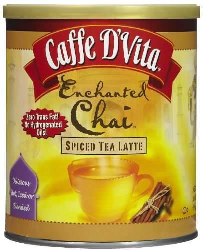 Caffe D'Vita Spiced Enchanted Chai Tea Latte 16 oz jar Instant coffee drink mix