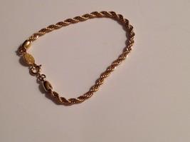 Napier Bracelet Gold Tone Twisted Spiral Strand Signed - $24.85