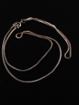 """VINTAGE CHAIN LINK NECKLACE 19"""" SILVER TONE CHAIN LINK JEWELRY NECKLACE - $7.91"""