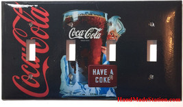 Have a Coke Coca-Cola Light Switch Outlet wall Cover Plate Home Decor image 6