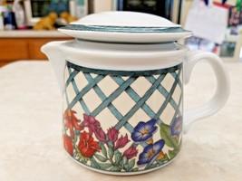 Dansk Porcelain Nordic Garden Creamer With Lid Lattice & Ribbon - $18.70