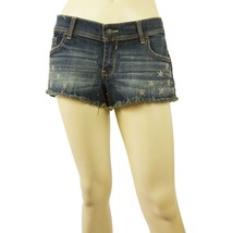 Abercrombie & Fitch Distressed Denim Jeans Beaded Stars Shorts Size 29 (... - $36.63