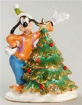 Disney Goofy jeweled keepsake treasure box HB Figurine - $48.37