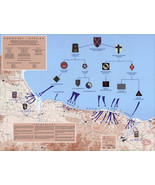 1944 War Map D-Day 6th of June Normandy Military WWII History Poster Wal... - $12.87+