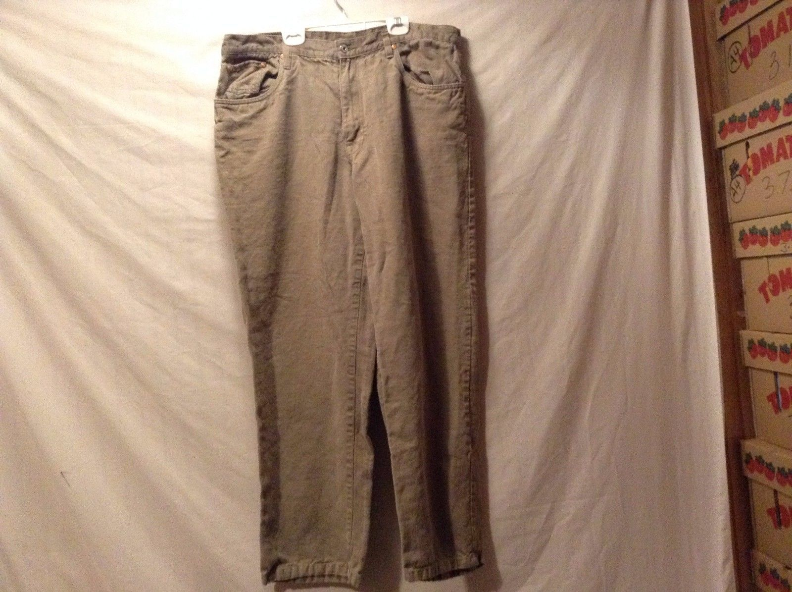 Great Condition Orvis Vintage Olive Pants 100% Hemp 4 Pockets Watch Pocket