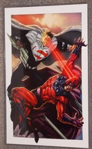 DC Superman vs Marvel Magneto Glossy Print In Hard Plastic Sleeve - $24.99