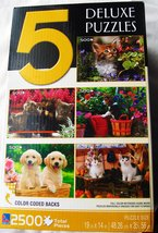 5 Deluxe Jigsaw Puzzles (5 x 500 Pc) by Sure-Lox - $8.90