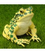 Green Frog Lifelike Realistic Fairy Garden Terrarium Figurine Decor Anim... - $9.99