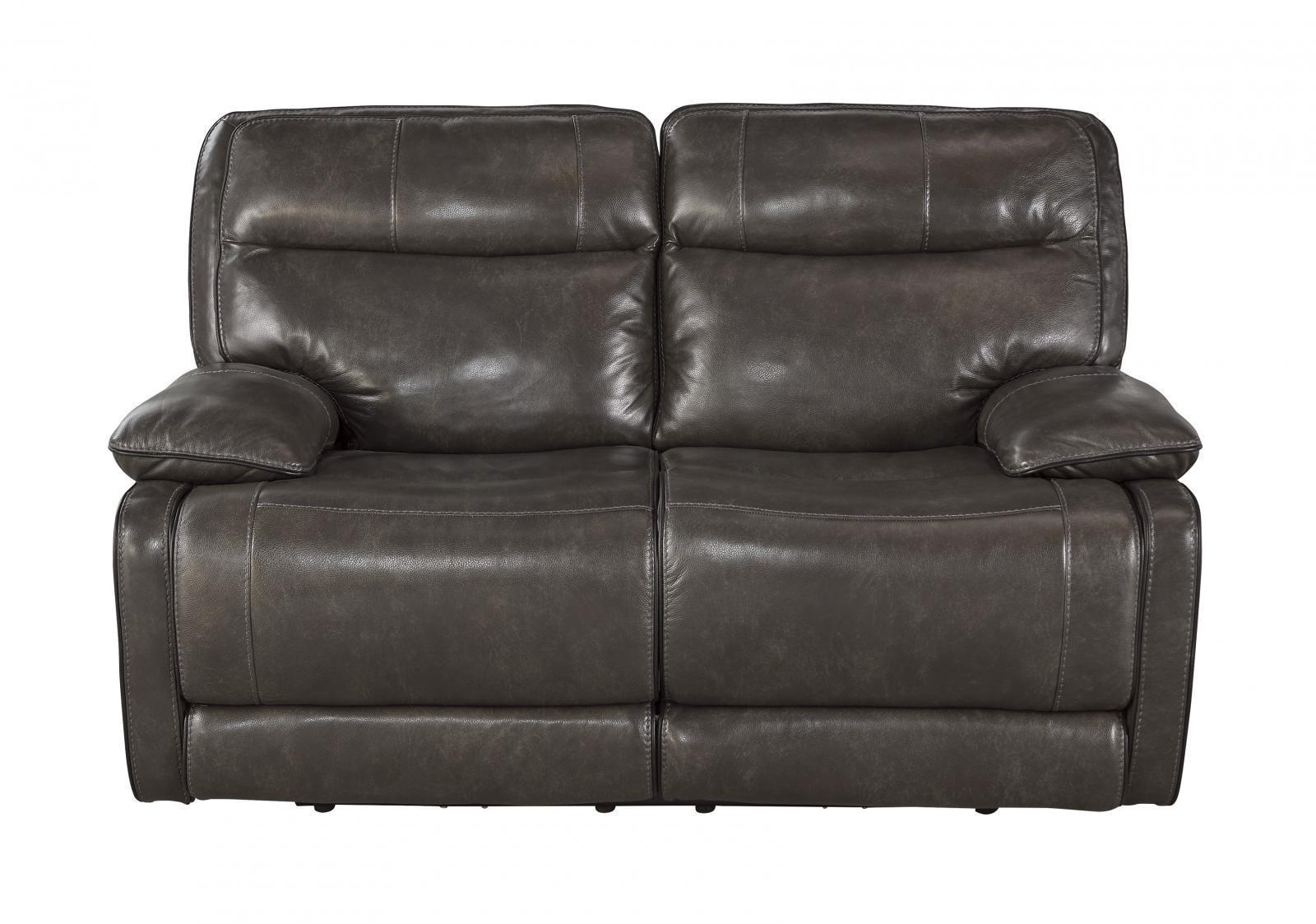 Ashley Palladum Living Room Reclining Power Loveseat in Metal Contemporary Style