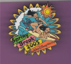 Disney Lilo and Stitch Surfing Surboarding WDW Pin/Pins - $19.98