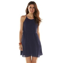 ELLE™ Textured Pleated Trapeze Eclipse Dress - Women's Sz XS NWT MSRP$60 - $26.49