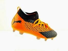 Puma Future 2.2 Netfit FG/AG Black Orange Soccer Cleats Men's  104830-02  Size 7 - $91.17