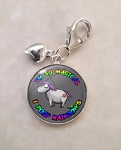 925 Sterling Silver Charm Magical Unicorn Pooping - $30.00
