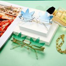 Punk Rimless Sunglasses Women  Gradient Vintage Sunglasses Men Brand Designer Re image 6